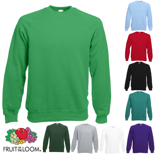 Raglan-Sweat-Sweatshirt-Fruit-of-the-Loom-S-M-L-XL-XXL