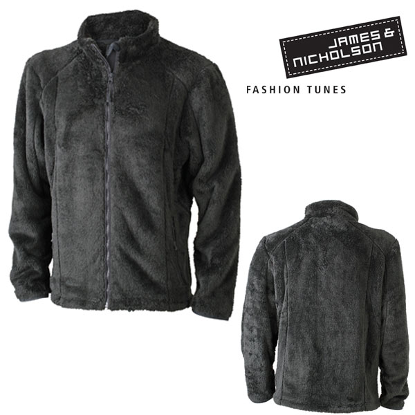 james nicholson herren highloft fleece jacket jacke. Black Bedroom Furniture Sets. Home Design Ideas