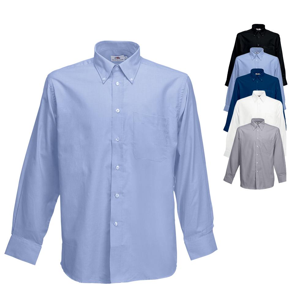 Fruit of the Loom Herren Langarm Hemd Business-Freizeit Shirt I S M L XL XXL 3XL